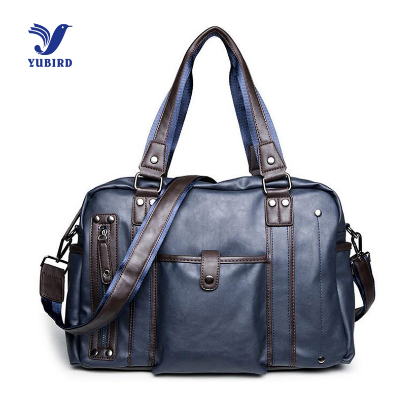 Fashion New Brand Designer Men Travel Bags PU Leather Hand ...