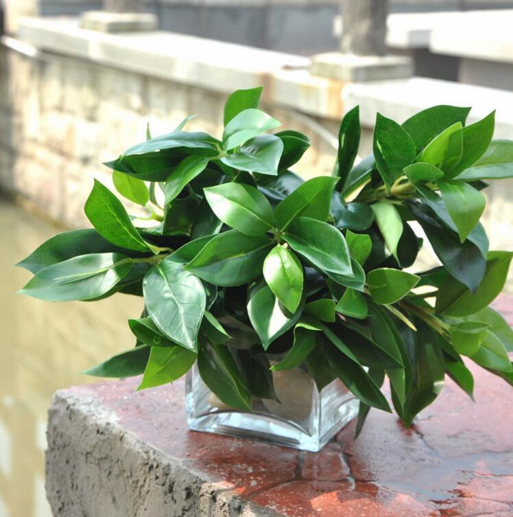 Große Blatt Künstliche Blumen Grünem Kunststoff Bäume Glück Blatt  Startseite Hochzeit WEIHNACHTEN Dekorationen MA1784(China