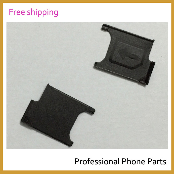 100% Original For Sony Xperia Z2 L50W D6503 Sim Card Tray Holder  Housing Parts Replacement, Free Shipping