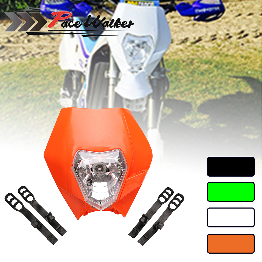 Univers Headlight Headlamp Fairing For Supermoto Motorcyle Dirt Bike Motocross