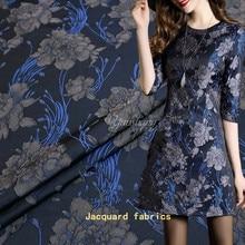 1Meter/Lot Jacquard Brocade Fabric African Lace Sew Clothing Dress Material Patchwork Flower 160cm Width Z akka Fabrics