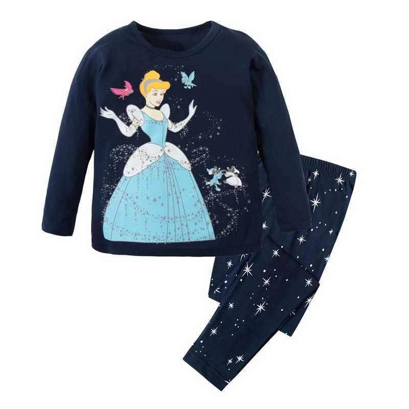 Подробнее Обратная связь Вопросы о 2018 Обувь для девочек принцессы пижамы  Детская одежда с рисунком из мультфильма Наборы для ухода за кожей Дети  пижамы ... a57925fa4bf2b