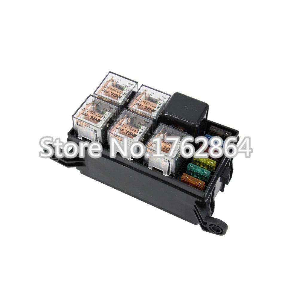 Way auto fuse box assembly with p v a pcs