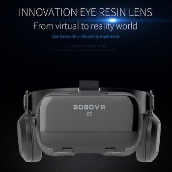 BOBOVR Z5 120 FOV VR Virtual Reality Glasses Remote 3D Android Cardboard VR 3D Headset Stereo Helmet Box for Smartphones 4.7-6.2 3
