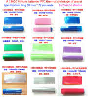 100 stücke Fabrik Direkt Verkauf 18650 Batterie Gehäuse Glänzend Transparent Blau Schrumpfschlauch Batterie Set Batterie Pvc Schrumpffolie