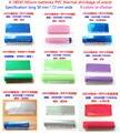 18650 invólucro da bateria bateria bateria transparente azul bainha de isolamento de calor filme de PVC encolhível calor manga retráctil