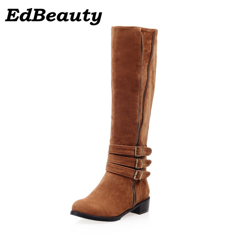 Online Get Cheap Brown Suede Knee High Boots -Aliexpress.com ...
