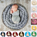 0-6Month Newborn Wool Twist Rope Backdrop Casual Fashion Handmade Infant Blanket Baby Photography Prop