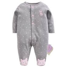 Купить с кэшбэком baby romper cartoon rabbit jumpsuits cotton newborn baby girl clothes Pajamas for babies