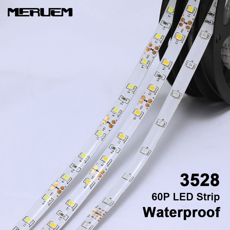 10mm Width 3528 flexible led strip light 60led/m DC12V, white / warm white / Blue / Red / Yellow / Green,5m/lot