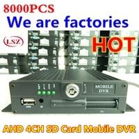 4ch karty sd mdvr do ciężarówek/autobus H.264 szeroki zakres napięcia rejestrator mobilny wsparcie NTSC/PAL Factory outlet w Rejestratory wideo do nadzoru od Bezpieczeństwo i ochrona na