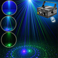 New Mini 20 Big GB Green Blue Laser Projector Lights 3W Blue LED Mix Effect DJ Party Garden Show Holiday Stage Lighting AZ20GB