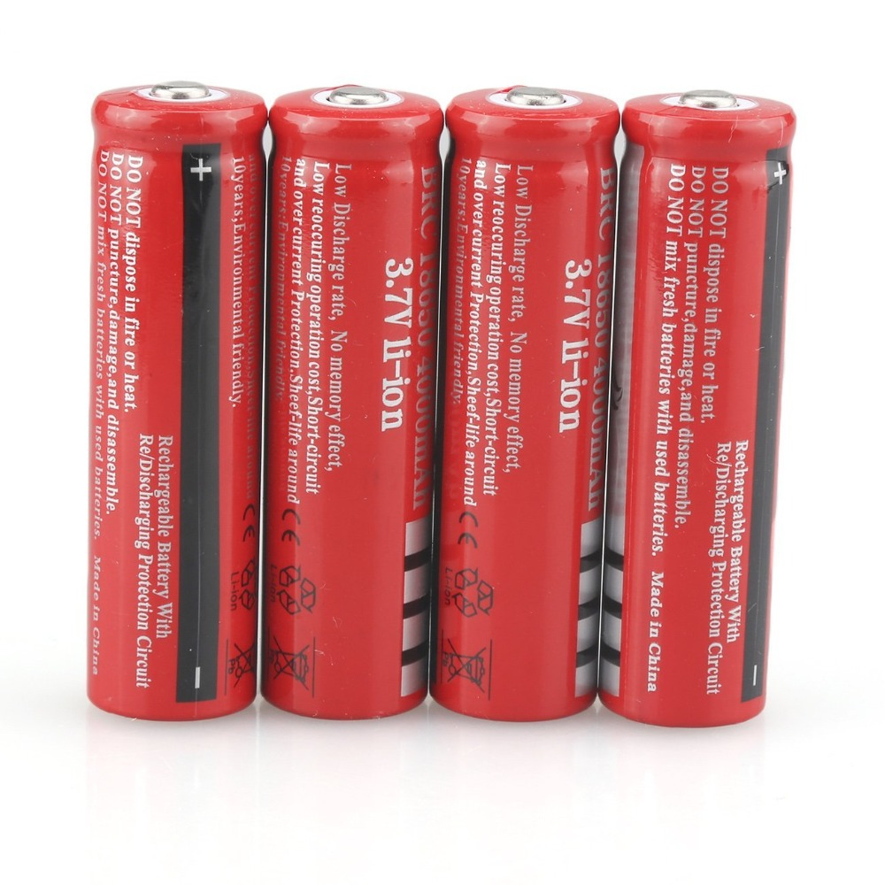 GTF 3.7V 4000mAh 18650 Battery Rechargeable Battery Li-ion 18650 Battery For LED Flashlight Torch