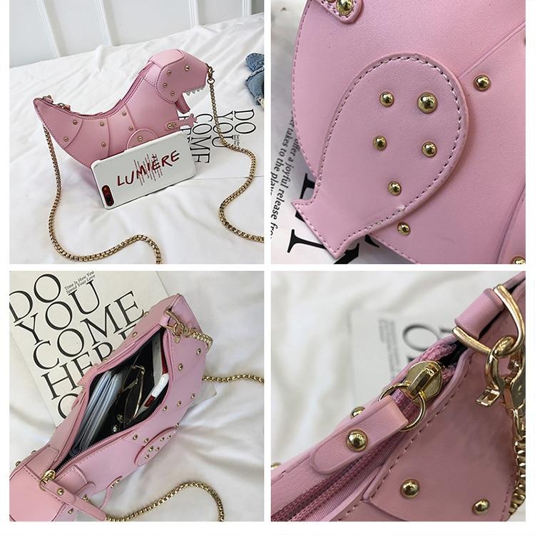 Mini Dinosaur Leather Messenger Bag
