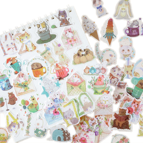 12 pacotes lote kawaii verao concerto serie diario adesivos decorativos scrapbooking diy artesanato adesivos de