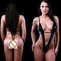 2017 Сексуальное женское белье горячих женщин черный кожаный плюшевого сексуальный babydoll косплей заключенных Женщин эротическое белье сексуальные костюмы