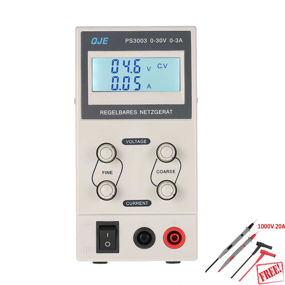 PS3005 PS3003 30V 3A 5A Professional Digital Adjustable DC Power Supply Laboratory Switching Power Supply 110V 220V US/EU Plug ship from de four digit display professional 0 30v 0 5a dc power supply device for workshops laboratory etm 305f eu plug