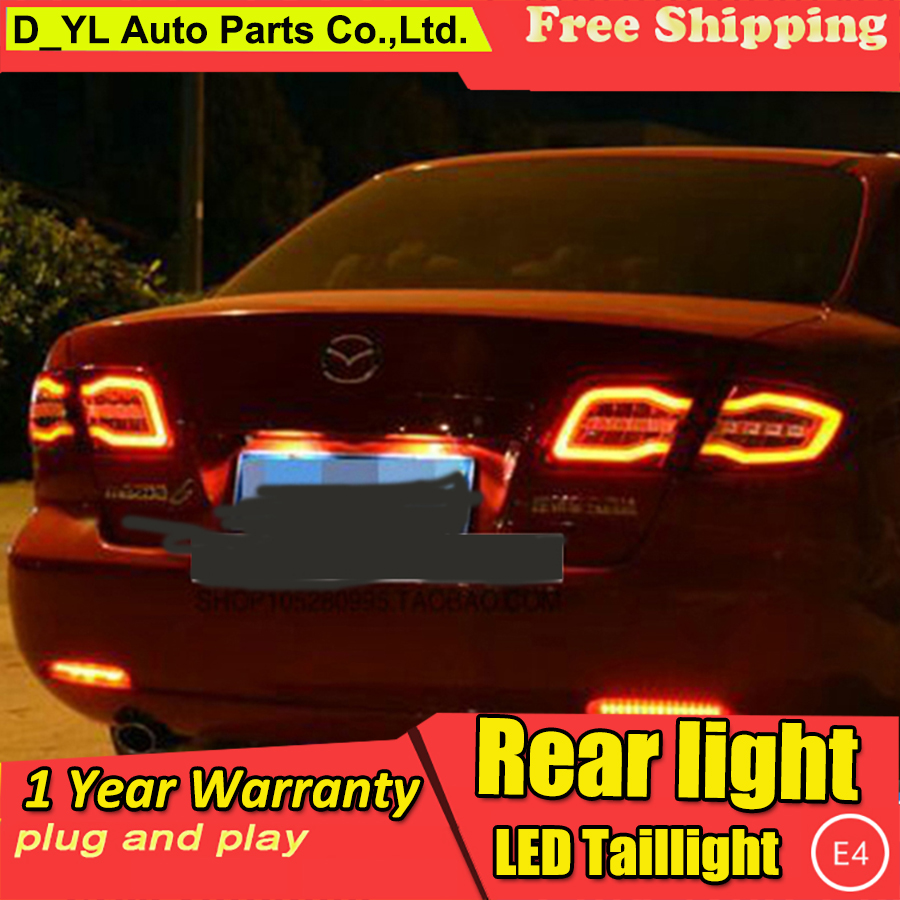 DY_L Car Styling for <font><b>Mazda</b></font> <font><b>6</b></font> Taillights 2004-2013 Mazda6 Classic <font><b>LED</b></font> <font><b>Tail</b></font> Lamp Rear Lamp DRL+Brake+Park+Signal <font><b>led</b></font> <font><b>light</b></font> image