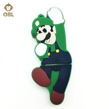3.0 USB Flash Drive Pen 128GB 64GB 32GB 16GB 8GB 4GB Memory Real Capacity Pendrive Stick Cute Super Mario
