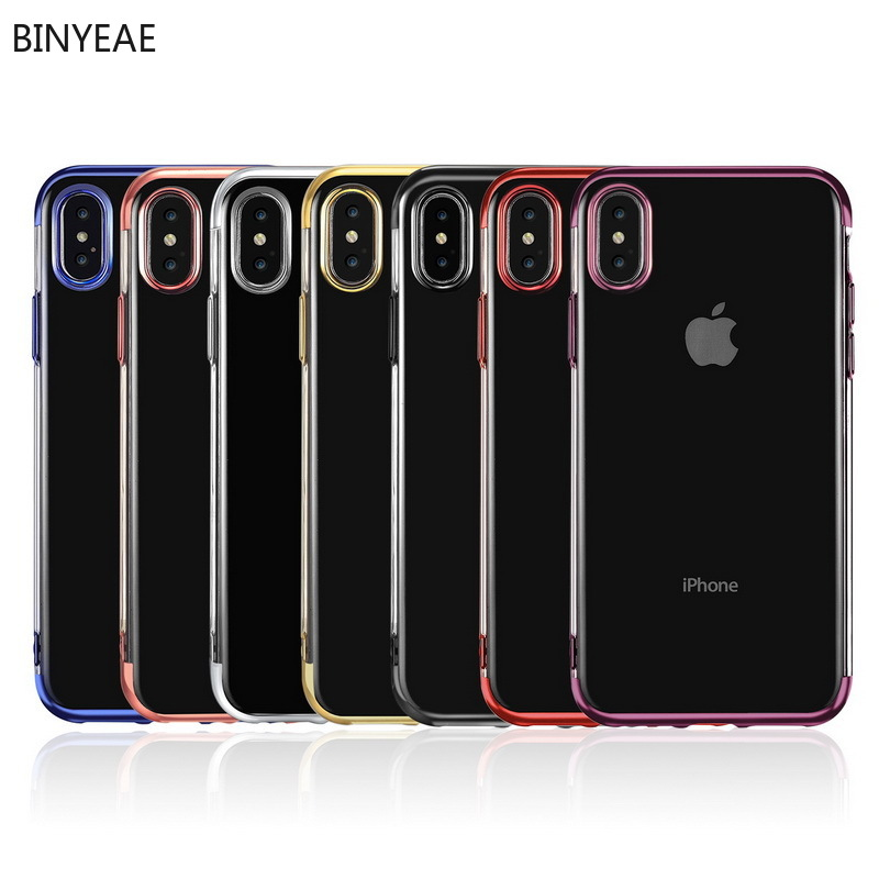 Iphone 7 Plus Phone Case Electroplating Three-segment TPU Iphone 7 Case  Ultra-thin  Iphone 6 Case