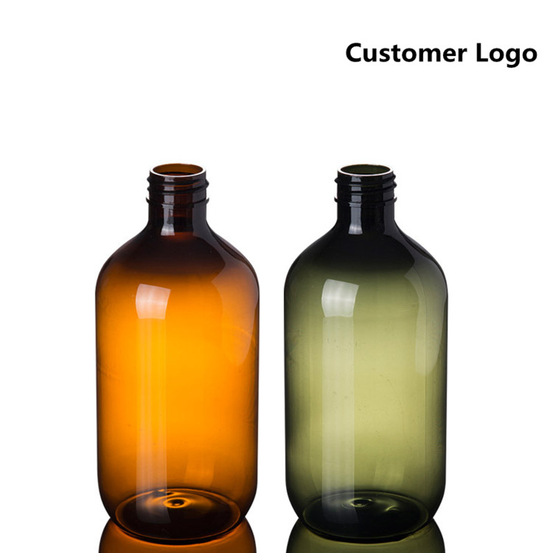 Image 3 - 2ps 300ml 500ml Plastic Lotion Bottles with  Lotion Pump for Shampoo, Personal care,Lotion Refillable Boston Bottles Home Reuse-in Refillable Bottles from Beauty & Health