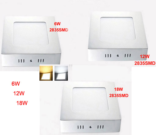 1 PZ 6 W 12 W 18 W Quadrato Led Pannello Luce Superficie Montato Led Downlight illuminazione Soffitto Led down down AC 110-240 V