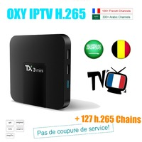 French IPTV TX3mini S905W Smart Android TV Box 2GB 16GB OXY France Arabic Belgique IPTV Subscription