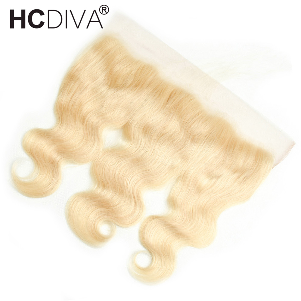 Brazilian Body Wave Lace Frontal Closure 613 Blond Ear To