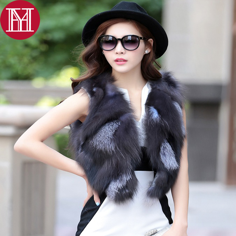Natura Stile Fox 3 Gilet Volpe Silver Di Breve Reale Carino Pelliccia color color Nuove 1 2017 Incantesimo Color Pezzi Donne 2 Modo 100 W6YnxORc