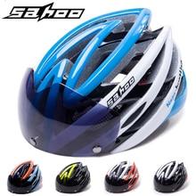 Clearance! SAHOO Cycling Helmet Ultralight Bicycle Helmet With Magnetic Goggles Mountain Road Bike Helmet Integrally Molded недорого