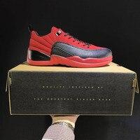 JORDAN Basketbal Schoenen 3 kleuren razende bullss Ademend Hoogte Toenemende Suede Sneakers Voor Mannen Schoenen Jordan 12