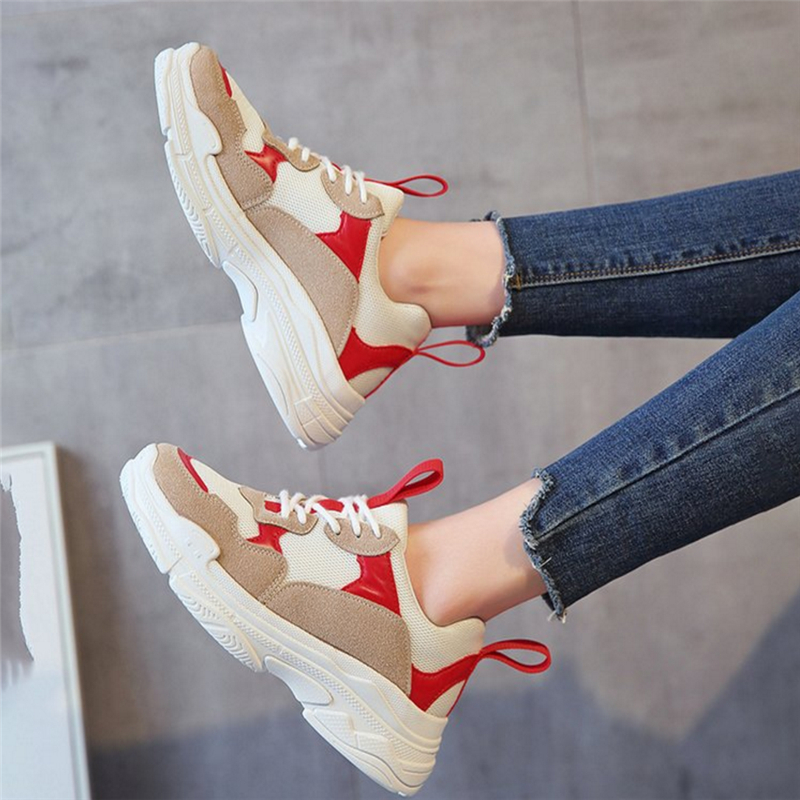 2018 spring new fashion women casual shoes Mesh platform shoes women sneakers Ladies white Trainers chaussure femme Zapatos Muje royyna new cute design women sneakers shoes flower femme casual shoes mesh lady flats outdoor chaussure femme zapatos mujer