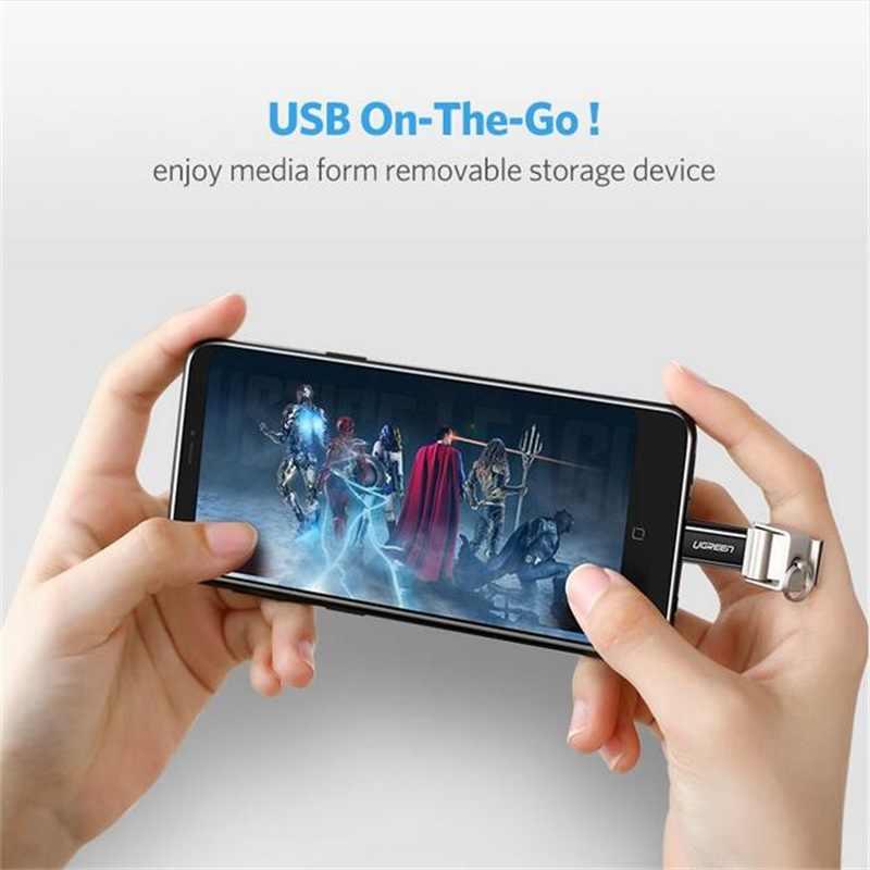 Ugreen Micro USB หญิงประเภท C อะแดปเตอร์ OTG Converter สำหรับ Samsung S9 Huawei Xiaomi OnePlus ชาร์จข้อมูล android