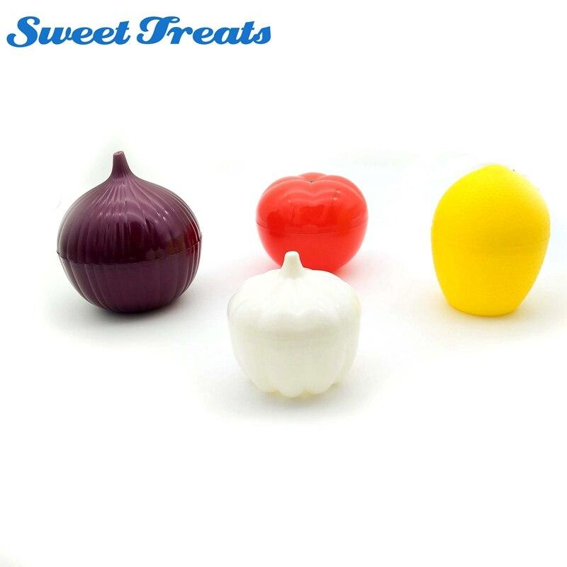 Sweettreats 4 paket Obst & Gemüse Lagerung Container, Zwiebel, zitrone, tomaten und knoblauch saver