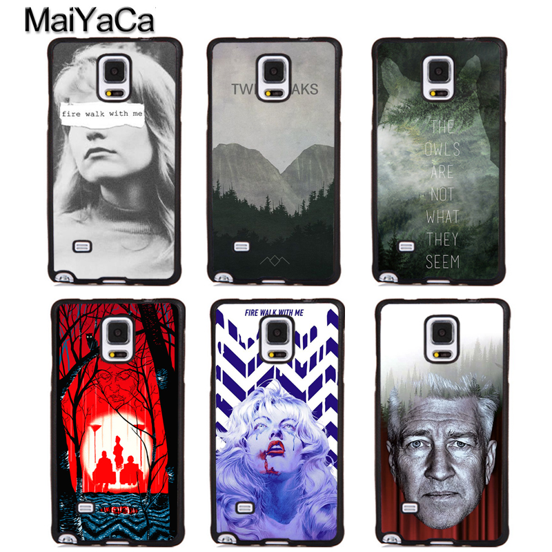 MaiYaCa fire walk with me twin peaks Soft Rubber Phone Cases For Samsung Galaxy S5 S6 S7 edge plus S8 S9 plus Note 4 5 8 Cover