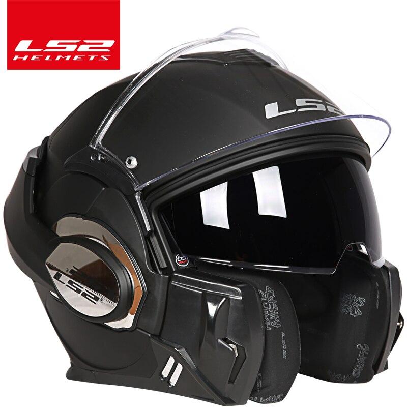 2017 nouveauté ls2 casque ff399 Chrome-plaqué casque Peut être Porter des lunettes Plein Visage Moto casque Anti-brouillard patch PINLOCK