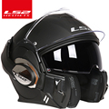 2017 nueva llegada ls2 casco ff399 casco cromado se puede llevar gafas de cara completa casco de motocicleta Anti- niebla parche cerradura