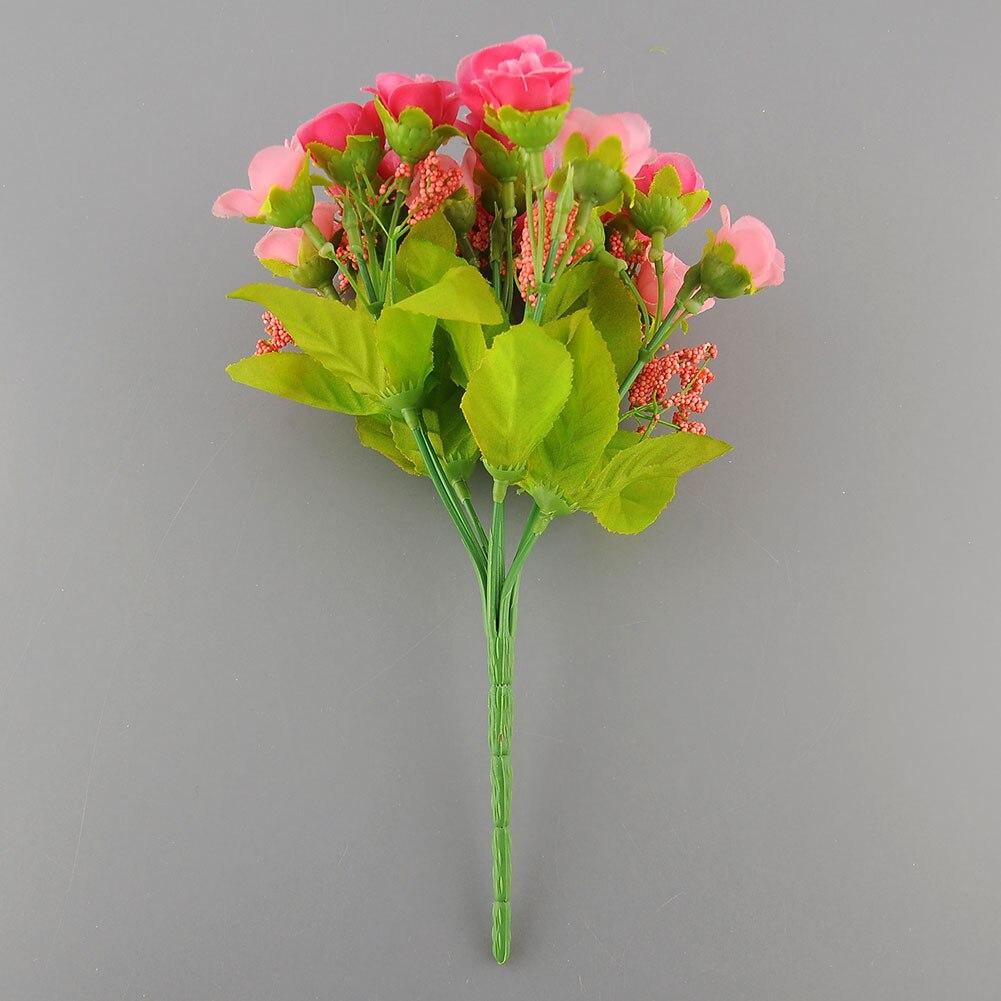 New Beautiful 21 Heads Artificial Mini Rose Bud Silk Flower