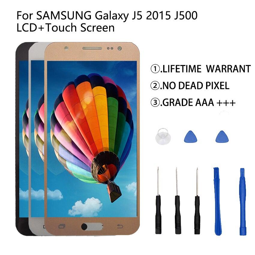 Pour SAMSUNG Galaxy J5 2015 J500 LCD affichage numériseur assemblée J500H J500FN J500F J500M SM-J500F écran tactile pièces de téléphone