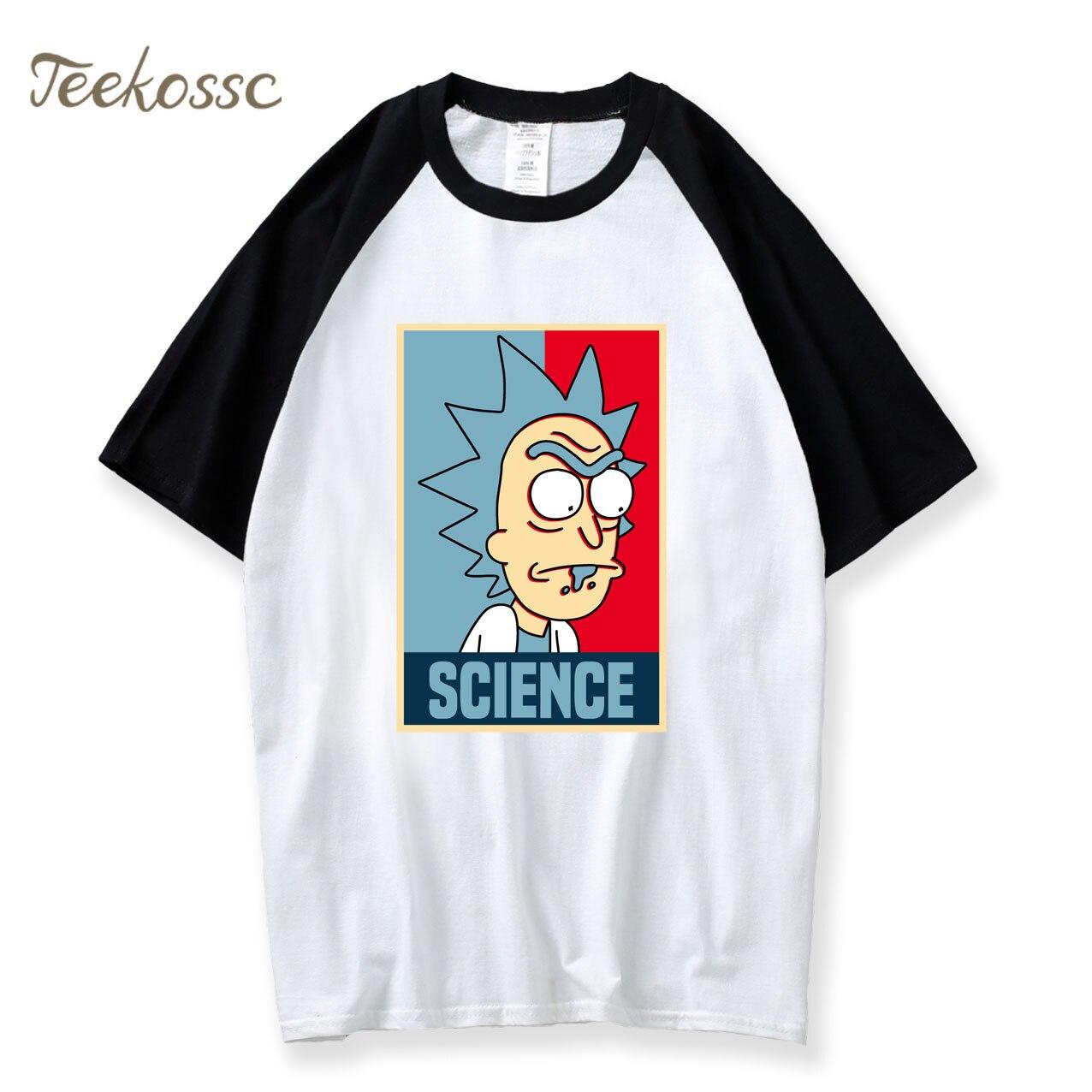Rick et Morty t-shirt hommes Science Rick Morty drôle t-shirt 2018 été Camisetas Hombre garçon mâle 100% haut en coton dessin animé t-shirts