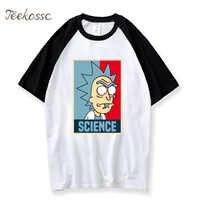 Rick y Morty camiseta hombres ciencia Rick Morty divertida camiseta 2018 verano Camisetas Hombre niño Hombre 100% algodón Top de dibujos animados camisetas