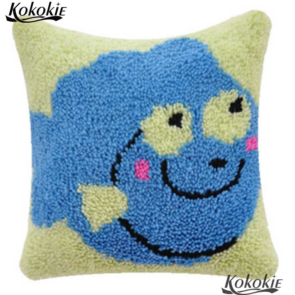 Zatrzask zestawy hak 3d poduszki diy dywan mata poduszki Cross Stitch robótki szydełkowanie dywan haft poszewka na poduszkę ryby dywan