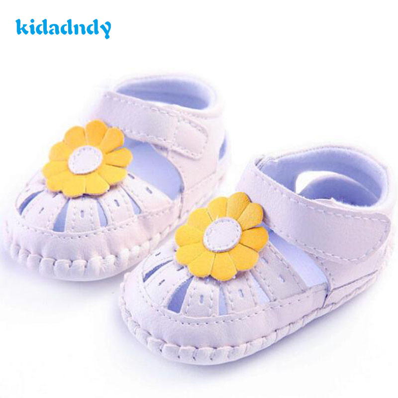 kidadndy First Walkers female baby shoes with rubber soles for antiskid flower baby shoes Toddler shoes 0 to 18 months XUEZ01
