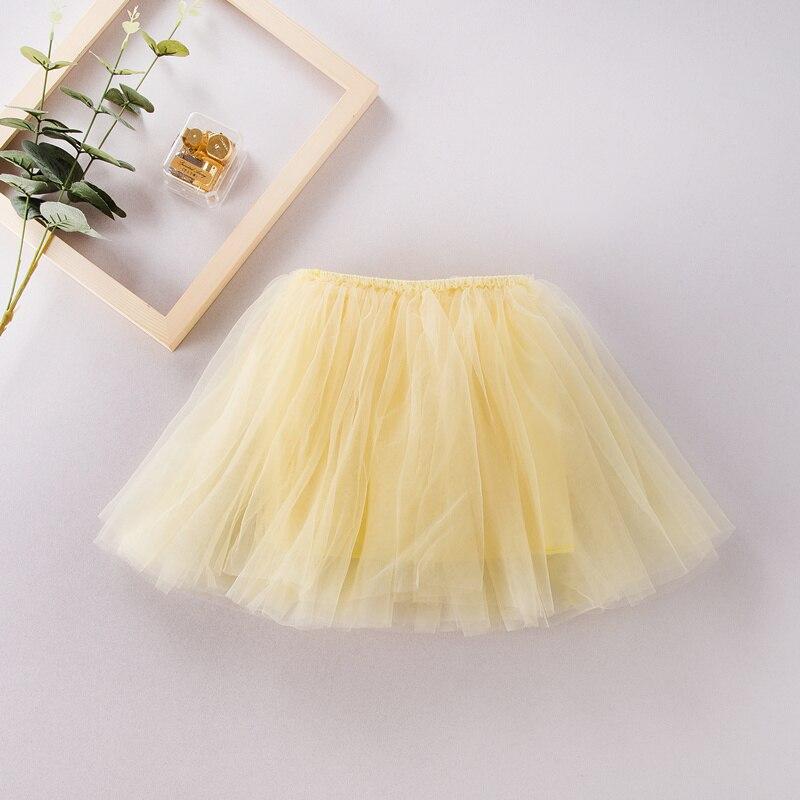 Fashion Girls Tutu Skirt Kids lovely 4 Layers Fluffy Pettiskirt girls summer skirt ball gown soft tulle for 2-7 Years children girls single breasted raw hem skirt
