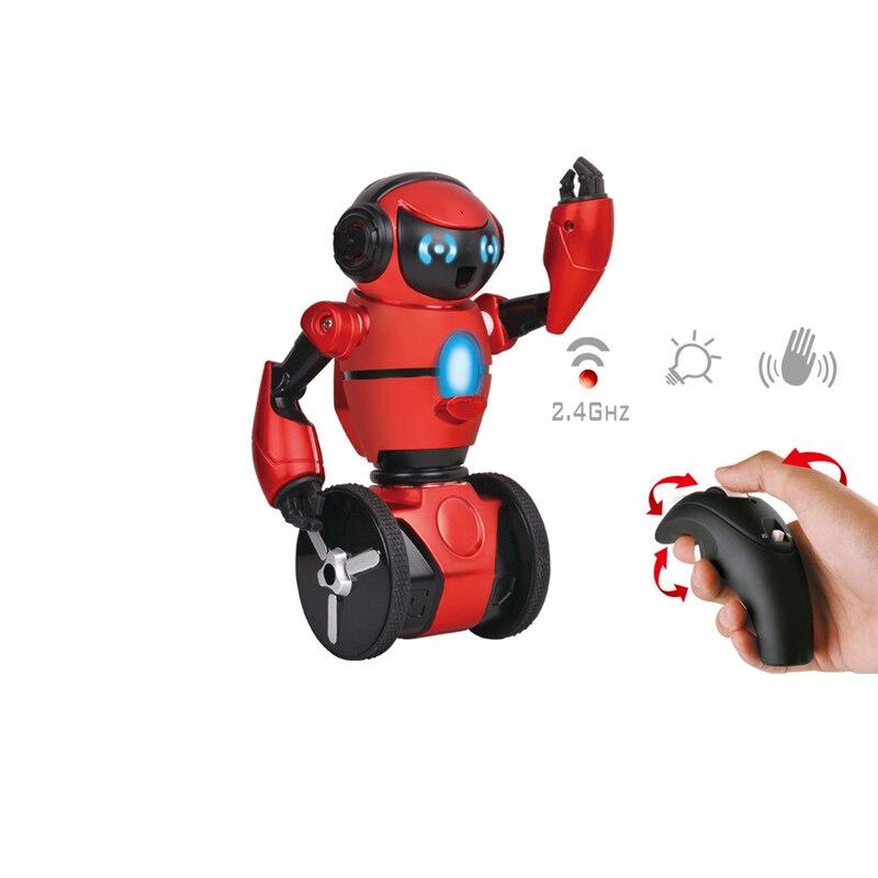 RC Robot F1 Lightweight 2.4G Intelligent Balance G-Sensor With Wheelbarrow Robot Toy Action Figure Fun Gift For Boys Girls rc robots kib self balancing tumbler robot intelligent balance wheelbarrow remote control toy