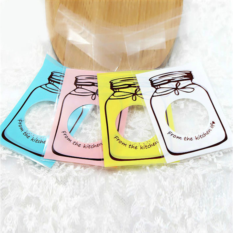 50Pcs 7*10cm 10*13cm Bottle Style Cookies Biscuits Bags Self-adhesive Packing Supplies Wedding Cellophane Cake Candy Gift Bags