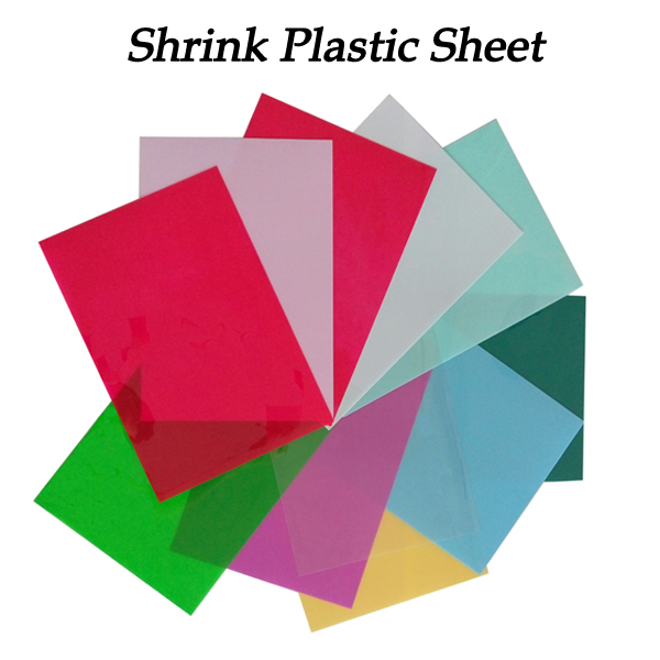 5pcs DIY Magic Shrink Plastic Sheet Paper Clear Film Red Yellow Blue Black Color Educational Toys Creative Ability Development
