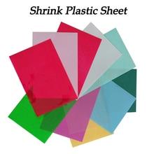 5pcs DIY Magic Shrink Plastic Sheet Paper Clear Film Red Yellow Blue Black Color Educational Toys Creative Ability Development