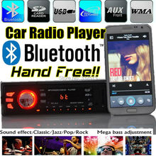 new 12V Car Radio MP3 Audio stereo player Bluetooth function Phone handfree USB SD MMC Port Car radio bluetooth In-Dash 1 DIN