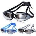 Nueva Ajustable Profesional Anti-niebla Protección UV Gafas de Natación Electrochapa Surf Impermeable Gafas de Natación Para Adultos Gafas
